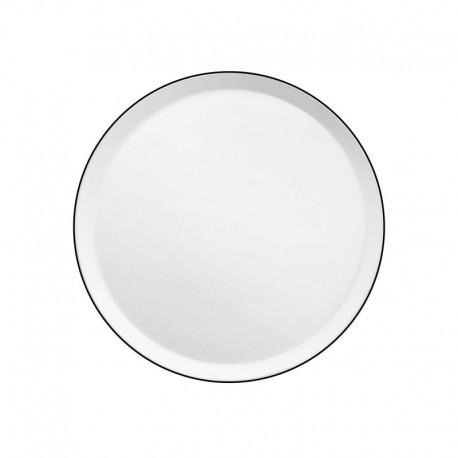 Médard de Noblat assiette dessert 21.5cm porcelaine Yaka Noir