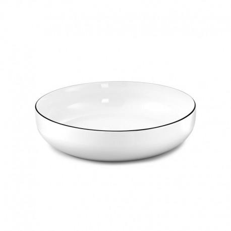 Médard de Noblat assiette pasta 20cm porcelaine Yaka Noir