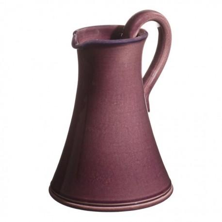 Pichet traditionnel céramique Sud aubergine, Atelier Romain Bernex