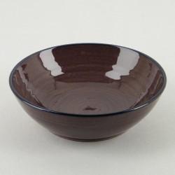 Assiette creuse céramique Collection Sud aubergine, Atelier Romain Bernex