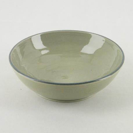 Assiette creuse céramique Collection Sud perle, Atelier Romain Bernex