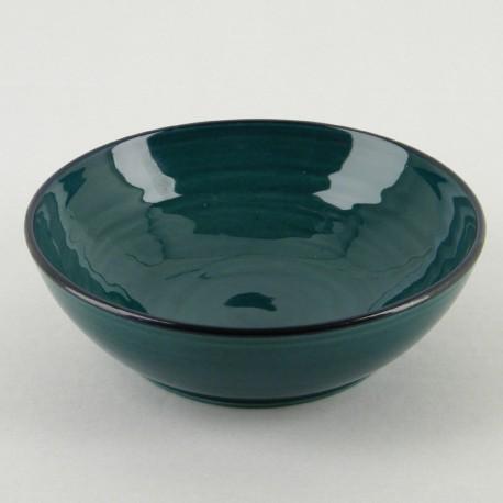 Assiette creuse céramique Collection Sud lagon, Atelier Romain Bernex