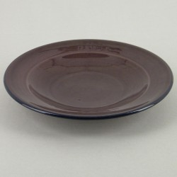 Assiette plate ceramique Sud aubergine, vaisselle colorée Bernex