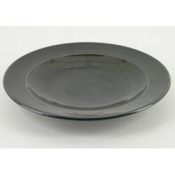 Assiette plate ceramique Sud cendre, Bernex