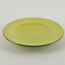 Assiette plate ceramique Sud pistache, Bernex