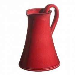 Pichet céramique Sud rouge, Atelier Romain Bernex