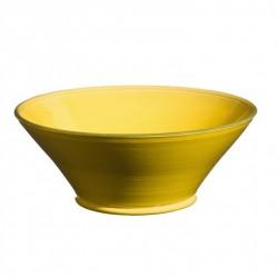 Saladier céramique Tian Sud jaune, Atelier Romain Bernex