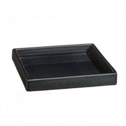 Plateau carré céramique 18x18cm Sud cendre, Atelier Romain Bernex