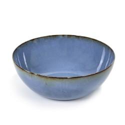Saladier design en grès émaillé 27 cm Terres de rêvesSmokey blue, Anita Le Grelle