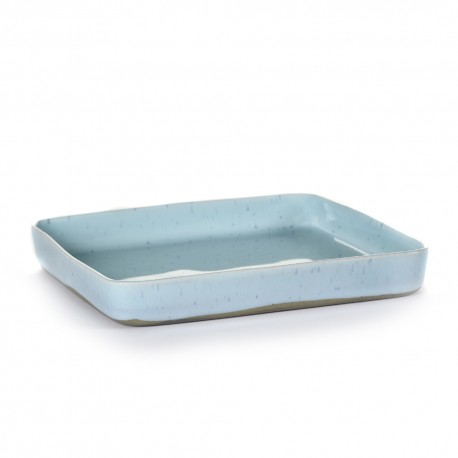 Assiette carrée 18 cm Terres de rêves Light blue, Serax par Anita Le Grelle