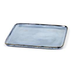 Assiette carrée S 17.5cm Terres de rêves Blue, Anita Le Grelle
