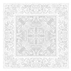 Serviettes de table Alexandrine blanc Neige, Garnier-Thiébaut