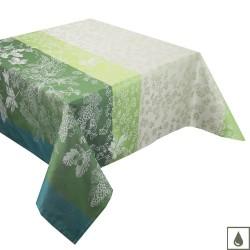 Nappe enduite sur mesure Mille Automnes Mousse, laize 180cm, Garnier-Thiébaut