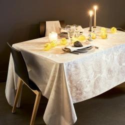 Nappe enduite sur mesure Mille Isaphire Parchemin, laize 180cm, Garnier-Thiébaut