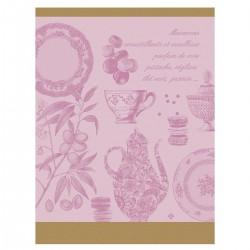 Torchon de cuisine Macarons Rose, Le Jacquard Français