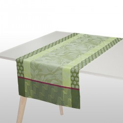 Chemin de table Nature Urbaine Gazon, Le Jacquard Français
