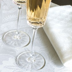 Serviettes de table Duchesse Blanc, Le Jacquard Français