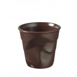 Gobelet froissé espresso 8cl en porcelaine Revol