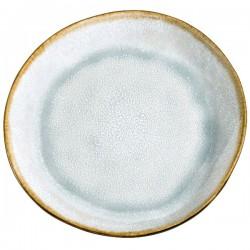Médard de Noblat assiette plate 28cm grès Shadow Aqua