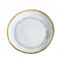 Médard de Noblat assiette dessert 20.5cm grès Shadow Aqua