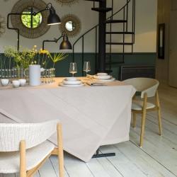 Nappe coton et lin Slow Life Sable, Le Jacquard Français