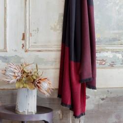 Plaid Duo Prune 150x200 100% laine Mérinos d'Arles Antique, Brun de Vian-Tiran