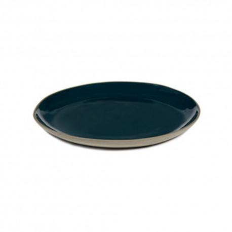 Assiettes gres bleu 25 cm RUR:AL, Anita Le Grelle Serax