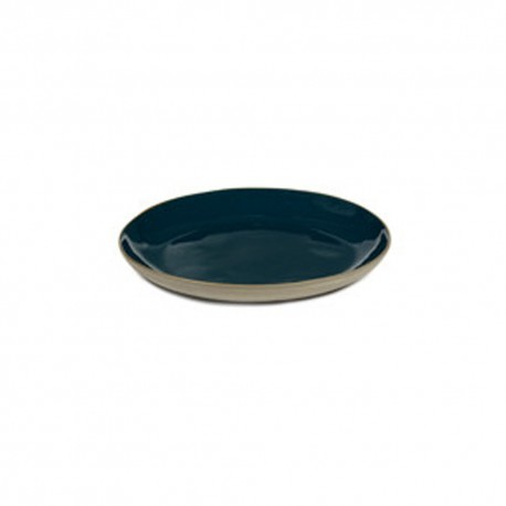 Assiettes gres bleu à tapas 17 cm RUR:AL, Anita Le Grelle Serax