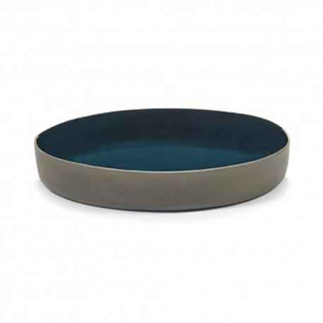 Plat de service ovale 29x25x4cm en grès bleu RUR:AL, Serax par Anita Le Grelle