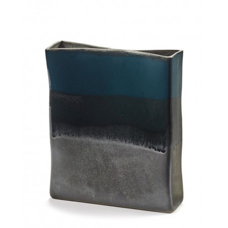 Vase design en céramique RUR:AL Bleu H26cm Anita Le Grelle, Serax