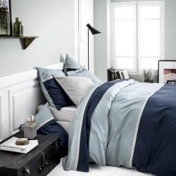Parure de lit percale de coton Toi et Moi Embruns, Essix