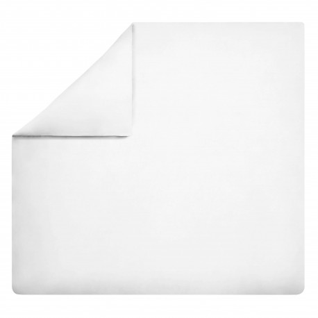 Housse de couette en percale de coton unie Royal Line Blanc, Essix