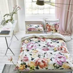 Parure de lit haut de gamme en percale de coton Tourangelle Poeny, Designers Guild