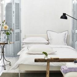 Parure de lit en percale de coton Astor Rose poudré et Muscade, Designers Guild