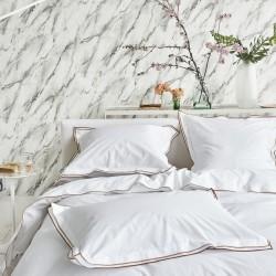 Parure de lit en percale de coton Astor Marron et Ocre, Designers Guild