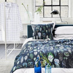 Parure de lit haut de gamme en percale de coton Quill Bleu Cobalt, Designers Guild
