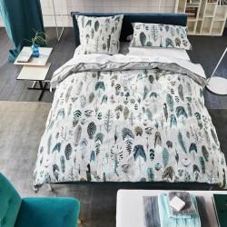 Parure de lit haut de gamme en percale de coton Quill Gris Perle, Designers Guild