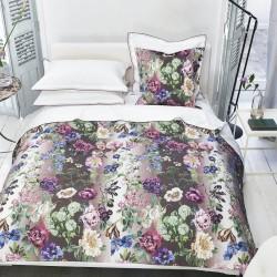 Bout de lit en percale de coton Alexandria Amethyst, Designers Guild