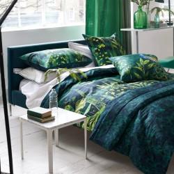 Bout de lit en satin de coton Arjuna Leaf, Designers Guild