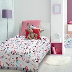 Parure de lit enfant Sirènes Blanc, Garnier-Thiébaut