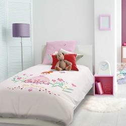 Parure de lit fille Petite princesse Rose, Garnier-Thiébaut