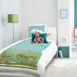 Parure de lit enfant L'arbre aux renards Prairie, Garnier-Thiébaut