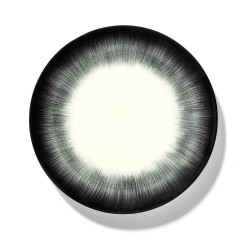 Assiettes porcelaine Serax Dé Ann Demeulemeester 24cm Blanc/Noir V5