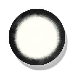 Assiettes porcelaine Serax Dé Ann Demeulemeester 24cm Blanc/Noir V4