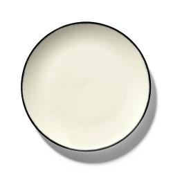 Assiettes porcelaine Serax Dé Ann Demeulemeester 24cm Blanc/Noir V1