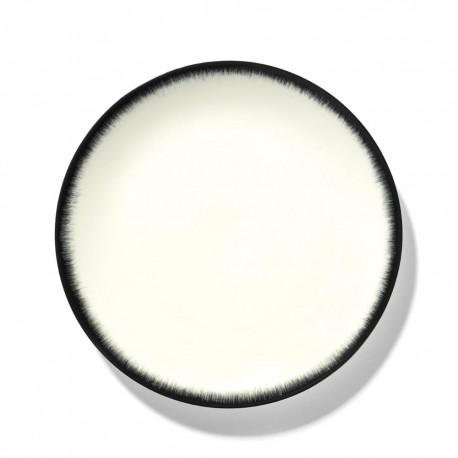 Assiettes porcelaine Serax Dé Ann Demeulemeester 24cm Blanc/Noir V3