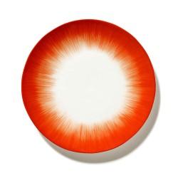 Assiettes porcelaine Serax Dé Ann Demeulemeester 24cm Blanc/Rouge V5