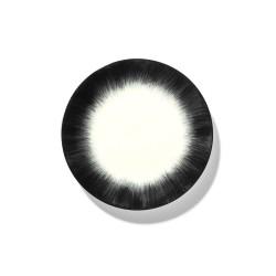 Assiettes porcelaine Serax Dé Ann Demeulemeester 17.5cm Blanc/Noir V4