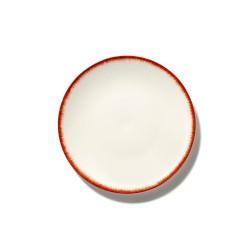 Assiettes porcelaine Serax Dé Ann Demeulemeester 17.5cm Blanc/Rouge V2