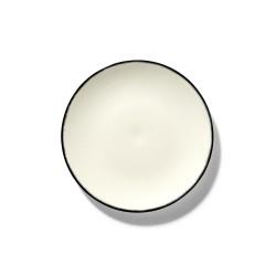Assiettes porcelaine Serax Dé Ann Demeulemeester 17.5cm Blanc/Noir V1